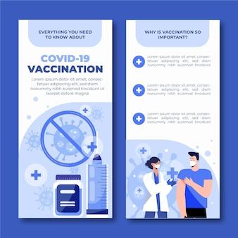 Folleto informativo de vacunación contra el coronavirus