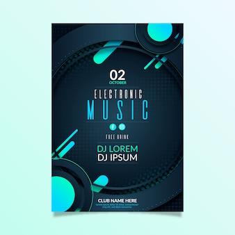 Folleto de invitación de evento de fiesta de música abstracta