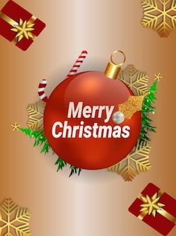 Folleto de invitación de feliz navidad con ilustración creativa
