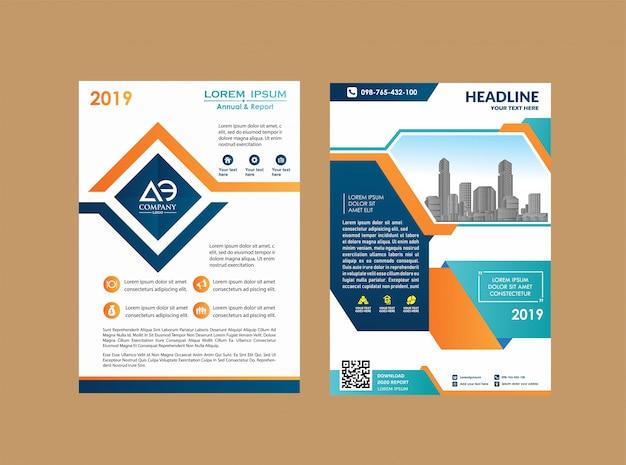Folleto de libro de informe anual de la revista del cartel de diseño de folleto