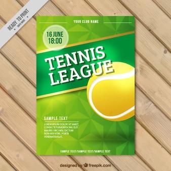 Folleto de liga de tenis
