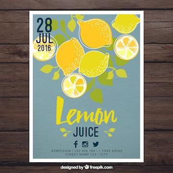 Folleto de limonada dibujado a mano