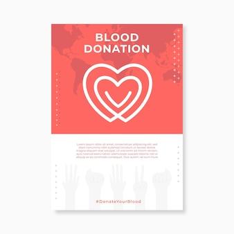 Folleto médico de donación de sangre simple moderno