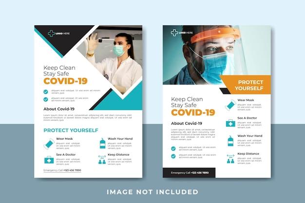 Folleto médico para plantilla de publicación en redes sociales