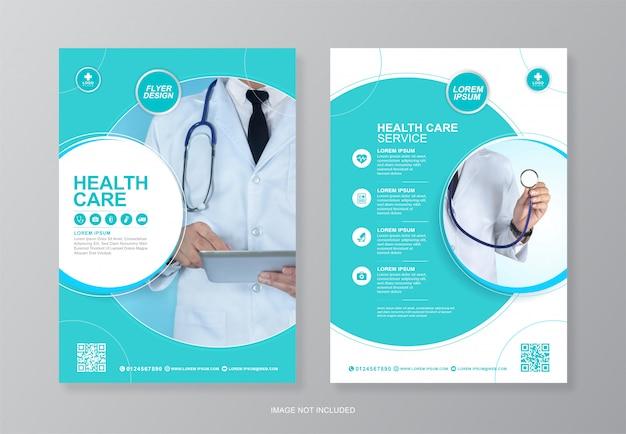 Folleto médico y sanitario corporativo