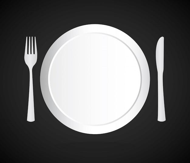 Folleto del menú sobre fondo negro ilustración vectorial