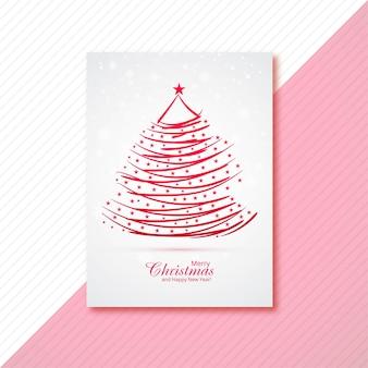 Folleto moderno de árboles de navidad