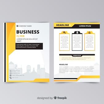 Folleto moderno de negocios con diseño abstracto