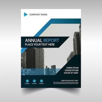 Folleto moderno de reportaje anual de negocios