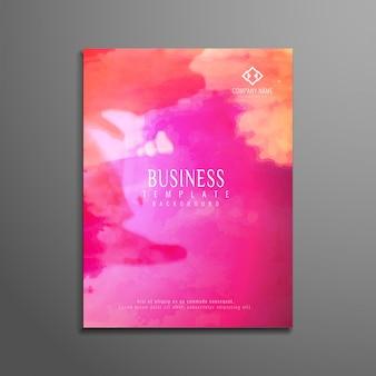 Folleto de negocios abstracto colorido