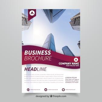 Folleto de negocios abstracto