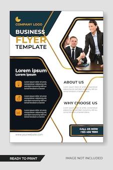 Folleto de negocios corporativos y plantilla de diseño de folletos