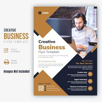 Folleto de negocios creativos