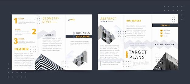 Folleto de negocios estilo geométrico