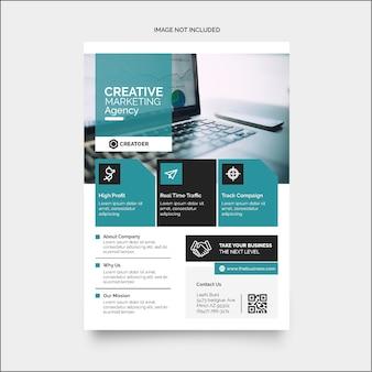 Folleto de negocios minimalista colorido