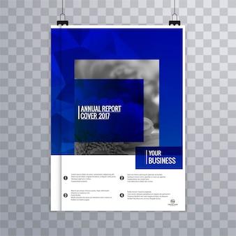 Folleto de negocios moderno azul