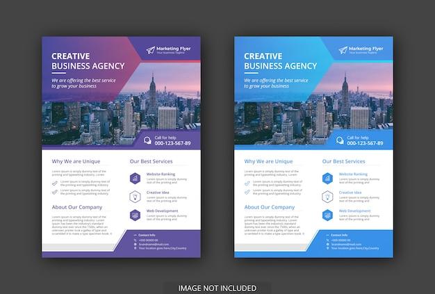 El folleto de negocios moderno tiene un gradiente