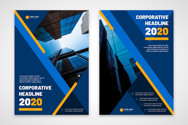 Folleto de negocios titular corporativo 2020