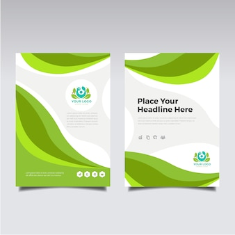 Folleto de negocios verde
