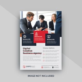 Folleto o póster de negocios corporativos