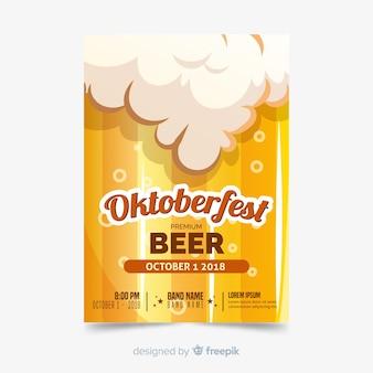 Folleto de oktoberfest