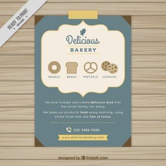 Folleto de panadería deliciosa