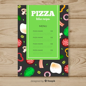 Folleto de pizzeria