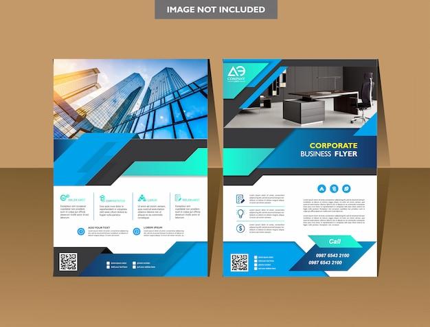 Folleto plantilla cubierta diseño informe anual revista folleto o folleto