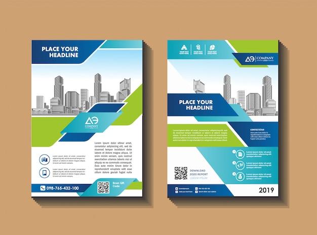 Folleto plantilla diseño portada diseño informe anual revista