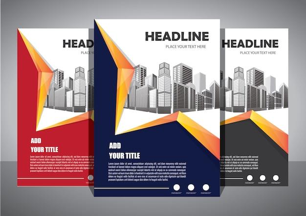 Folleto plantilla diseño portada diseño informe anual