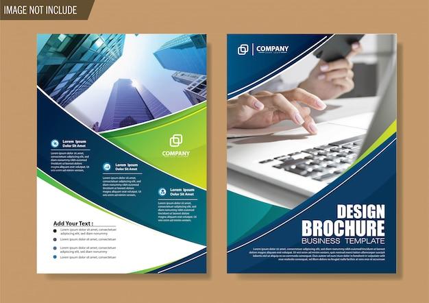 Folleto y plantilla de folleto para informe anual de diseño.