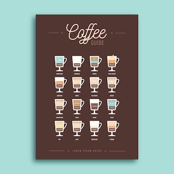 Folleto plantilla guía de café