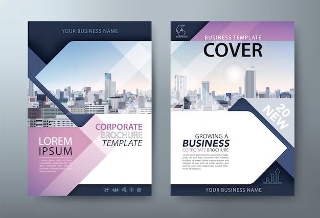 Folleto, presentación de folleto, plantillas de portadas de libros, diseño en tamaño a4.