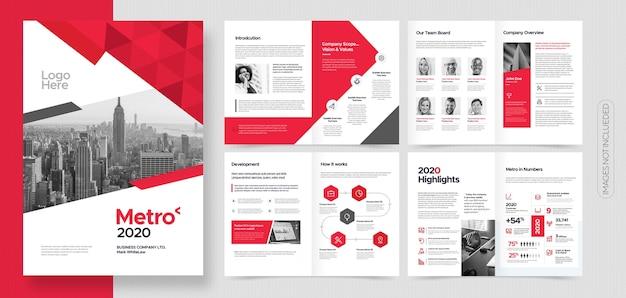 Folleto profesional de negocios corporativos o plantilla de folleto