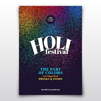 Folleto realista del festival holi