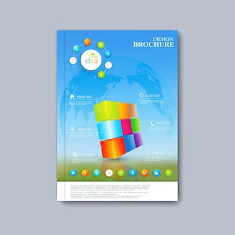 Folleto, revista, folleto, folleto, portada o informe de diseño de plantilla moderna en tamaño a4 para su diseño.