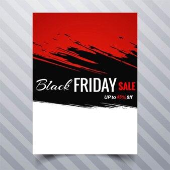 Folleto rojo, negro y blanco, viernes negro