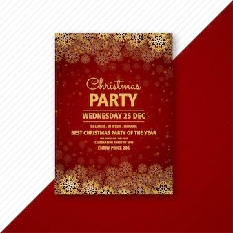 Folleto de tarjeta de plantilla de volante de fiesta de navidad