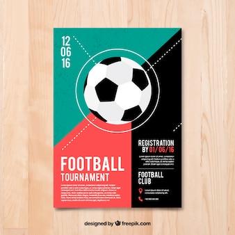 Folleto de torneo de fútbol