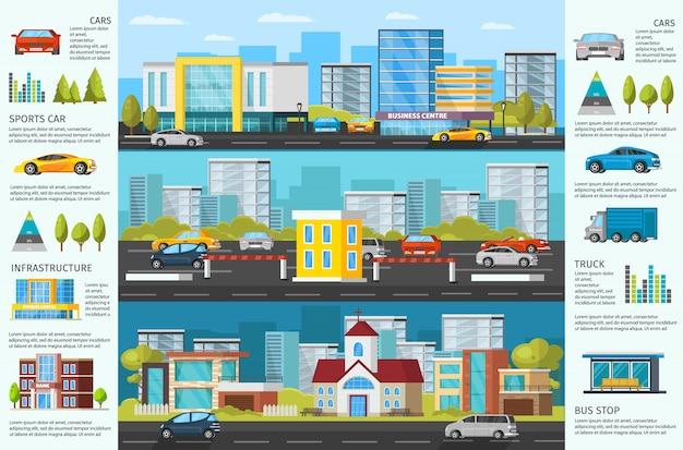 Folleto de tráfico automotor urbano
