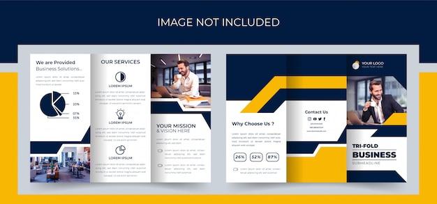 Folleto tríptico, diseño de folleto tríptico empresarial, folleto tríptico corporativo premium