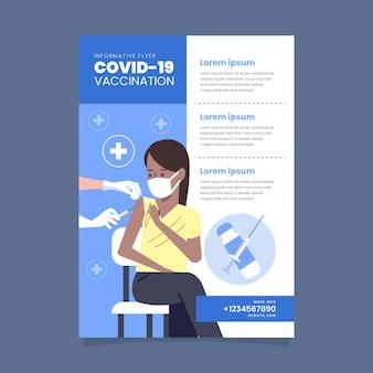 Folleto de vacunación de coronavirus plano orgánico
