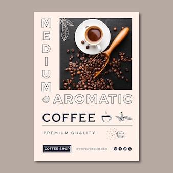 Folleto vertical de café de calidad premium