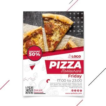 Folleto vertical de restaurante de pizza