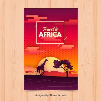 Folleto de viaje a áfrica
