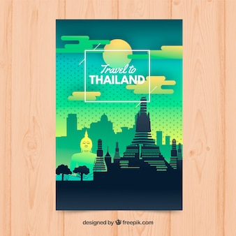 Folleto de viaje a tailandia