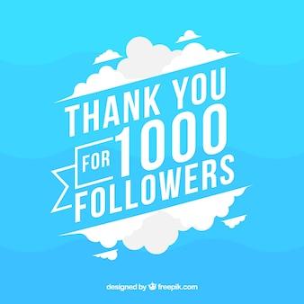 Fondo de 1k seguidores azul y blanco