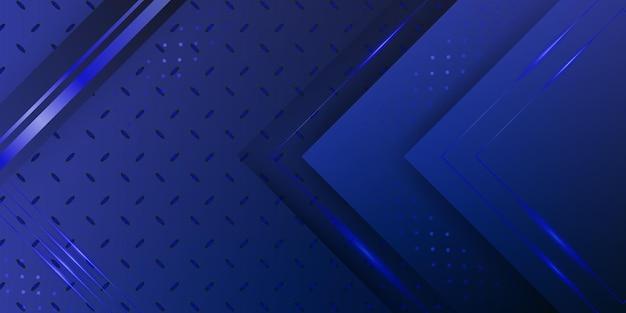 Fondo 3d abstracto metálico azul oscuro moderno con capas superpuestas dinámicas y decoración ligera