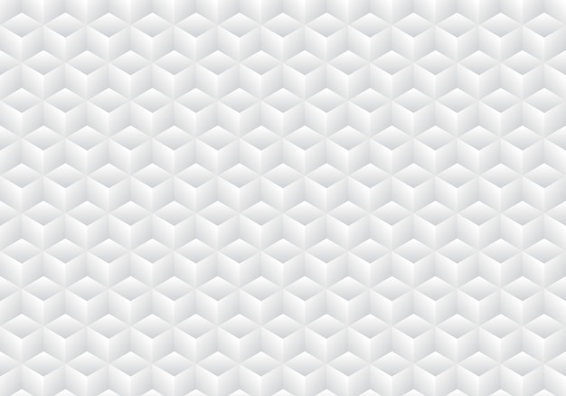 Fondo 3d realista geométrico cubos blancos y grises de fondo