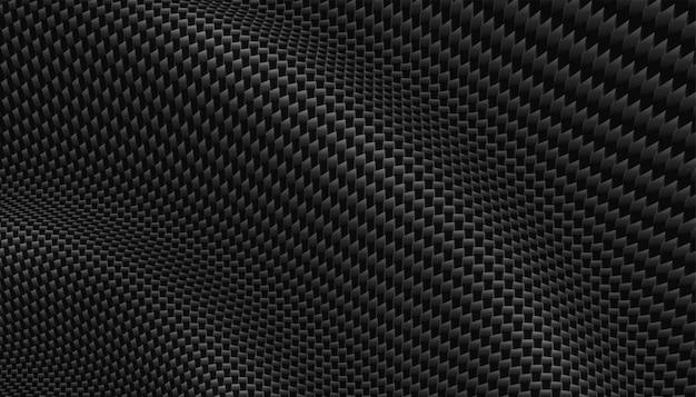 Fondo 3d de textura de fibra de carbono realista
